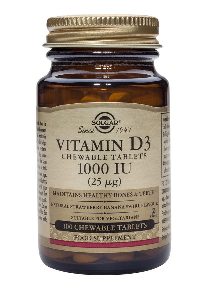 vitamina D3 comprimidos masticables de solgar